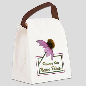 Native Plants Canvas Lunch Bag