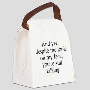 still talking 2 Canvas Lunch Bag
