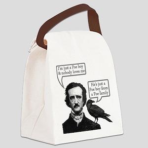 Poe Boy Canvas Lunch Bag