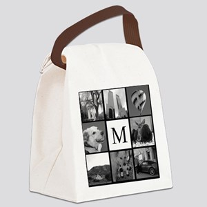 Monogrammed Photo Block Canvas Lunch Bag