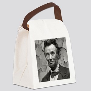 Worn, Abe Lincoln, Canvas Lunch Bag