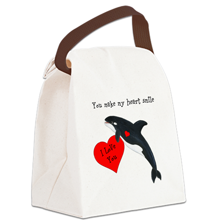 Personalized Whale Canvas Lunch Bag