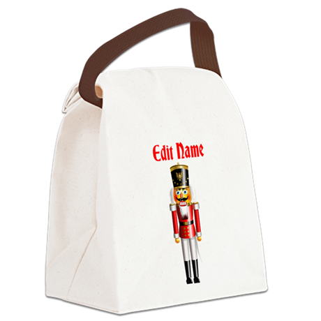 Xmas Nutcracker Canvas Lunch Bag