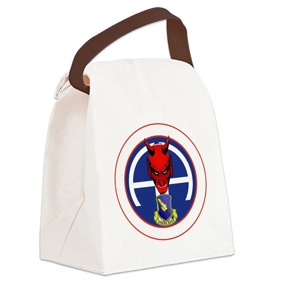 6d0ba1bcc372b5 Devil 1-504 v1 - white Canvas Lunch Bag by Admin CP976999 - CafePress