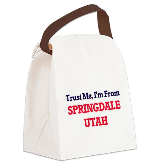 Trust Me, I'm from Springdale Uta Canvas Lunch Bag
