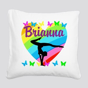 PERSONALIZE GYMNAST Square Canvas Pillow