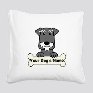 Personalized Mini Schnauzer Square Canvas Pillow