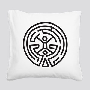 Maze in Westworld Square Canvas Pillow