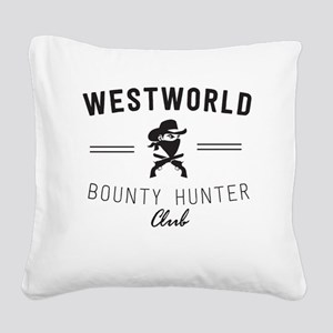 Westworld Bounty Hunter Club Square Canvas Pillow