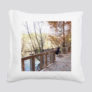 Isolative Peace & Beauty Square Canvas Pillow