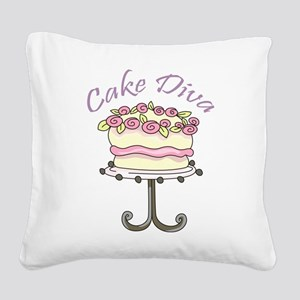 Cake Diva Square Canvas Pillow