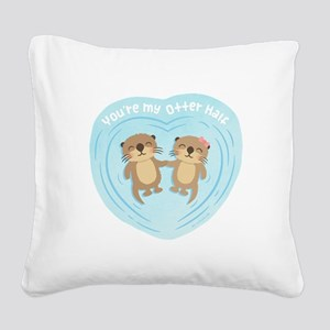 You are my otter half love pun humor Square Canvas