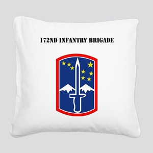 SSI - 172nd Infantry Brigade  Square Canvas Pillow