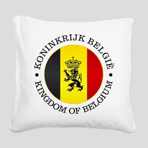 Belgium (rd) Square Canvas Pillow