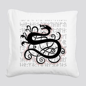 Fafnir The Norse Dragon Square Canvas Pillow