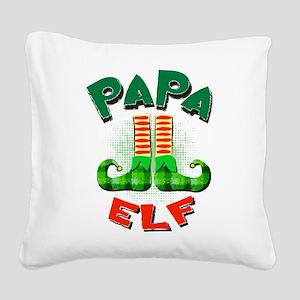 Papa Elf Square Canvas Pillow