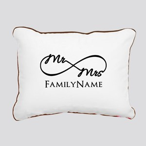 Custom Infinity Mr. and Rectangular Canvas Pillow