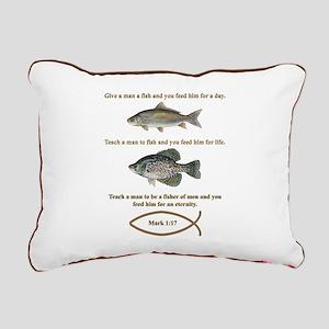 Fishermen Rectangular Canvas Pillow