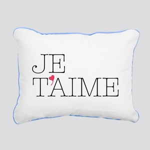 Je Taime Rectangular Canvas Pillow