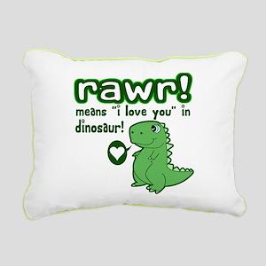 7bae5f25e Rawr Means I Love You In Dinosaur Pillows - CafePress