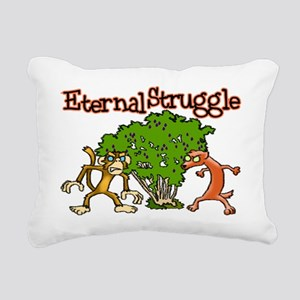 Monkey Vs Weasel Rectangular Canvas Pillow