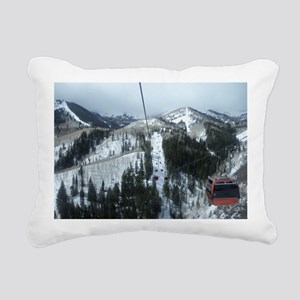 Mountain Gondola Ride Rectangular Canvas Pillow