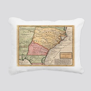 Vintage Map of the Carol Rectangular Canvas Pillow