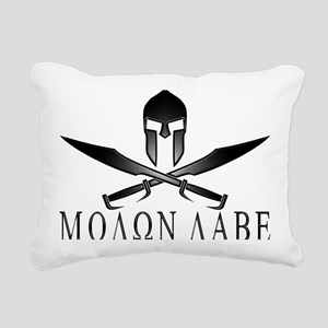 Spartan_Helmet__Swords_C Rectangular Canvas Pillow