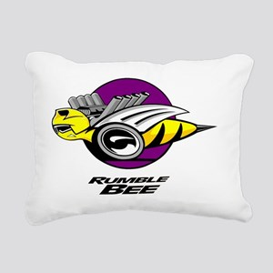 Rumble Bee blk  Rectangular Canvas Pillow