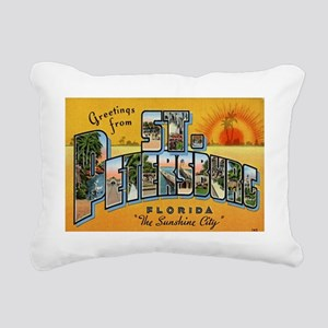 St. Petersburg Postcard Rectangular Canvas Pillow