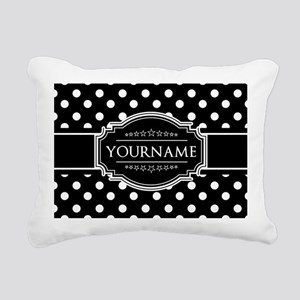 Custom Black and White P Rectangular Canvas Pillow