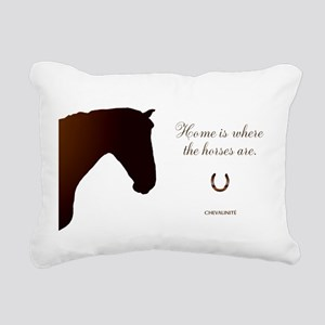 Horse Design by Chevalin Rectangular Canvas Pillow