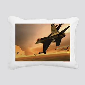 Hill 388th F-16s vs MiG- Rectangular Canvas Pillow
