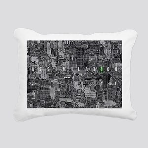 borg laptop Rectangular Canvas Pillow