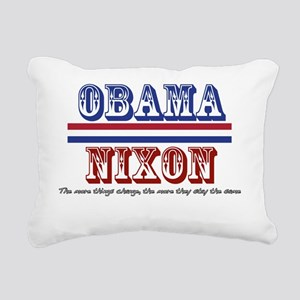 Obama / Nixon II Rectangular Canvas Pillow
