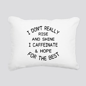 i don't really rise Rectangular Canvas Pillow