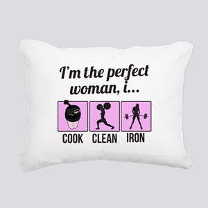 cook, clean, iron Rectangular Canvas Pillow