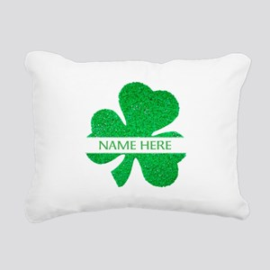 Custom Name Shamrock Rectangular Canvas Pillow