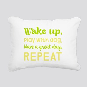 Wake Up Play With Dog Ha Rectangular Canvas Pillow