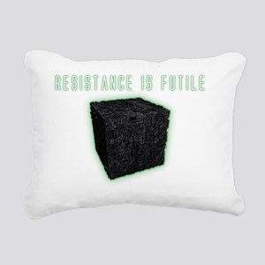 CubeResistanceDarks Rectangular Canvas Pillow