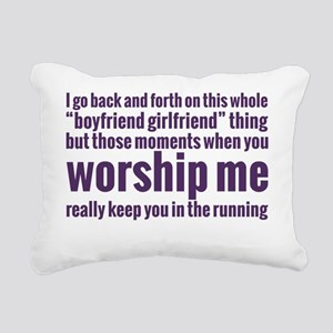 worship me Rectangular Canvas Pillow