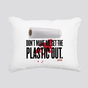 Get The Plastic Out Rectangular Canvas Pillow
