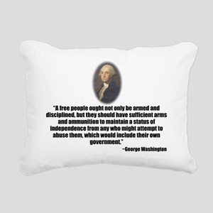 Gun Control Rectangular Canvas Pillow