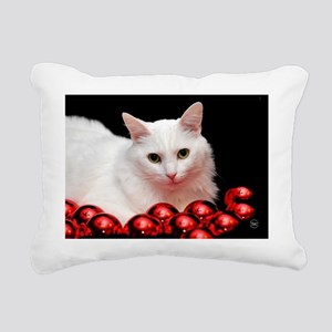 xmas_cat_card Rectangular Canvas Pillow