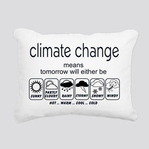 CLIMATE CHANGE t-shirt Rectangular Canvas Pillow