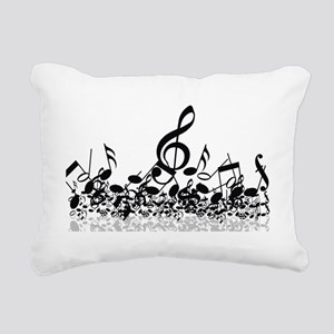 Music Notes Rectangular Canvas Pillow