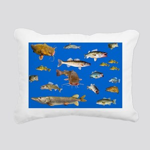 All fish 3 Rectangular Canvas Pillow