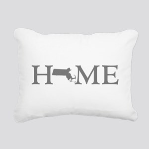 Massachusetts Home Rectangular Canvas Pillow