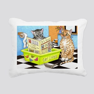 Cat 464 Rectangular Canvas Pillow