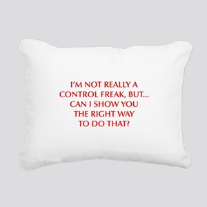 CONTROL-FREAK-OPT-RED Rectangular Canvas Pillow